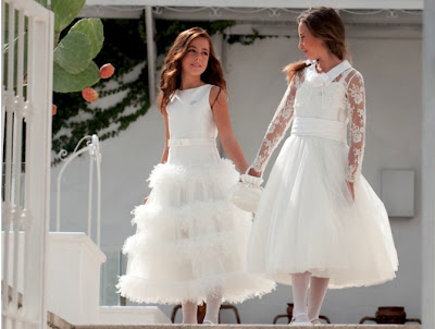 white flower girls wedding dress