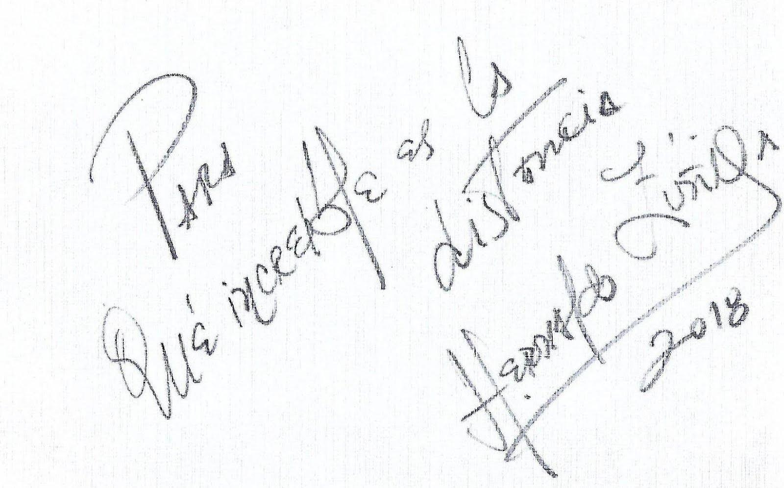 Autógrafo en Chile 03-09-18