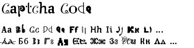 скачать бесплатный и красивый шрифт Captcha Code