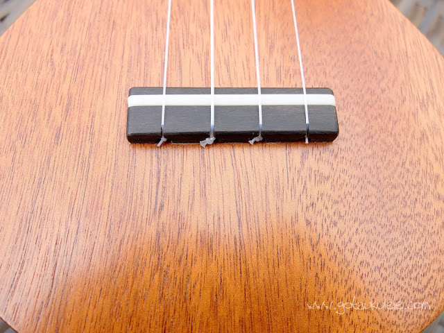 DJ Morgan Soprano ukulele bridge