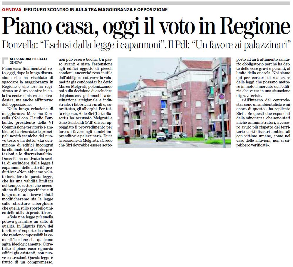Alassiofutura regione liguria piano casa polemica tra - Regione liguria piano casa ...