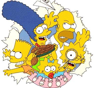 Dibujo de Los Simpson
