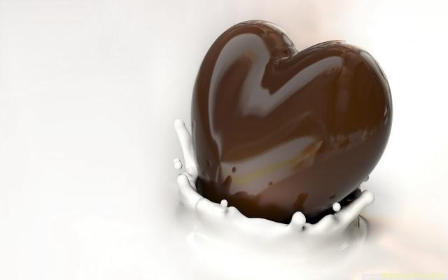 hình nền máy tình tình yêu socola trái tim