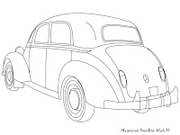 Mewarnai Gambar Mobil Mercedes-Benz Kuno