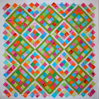 Boxed In quilt top from Skip the Borders