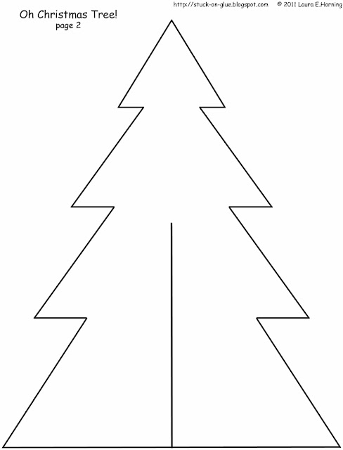 Christmas Tree Templates To Print