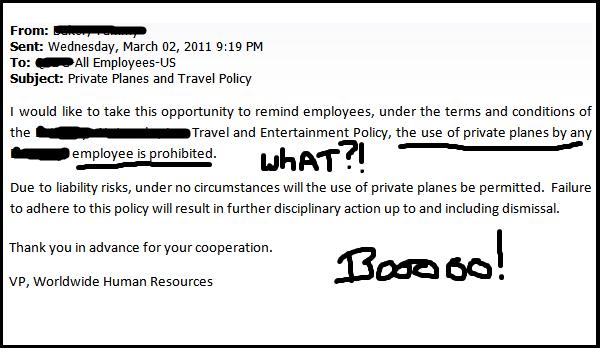 no private planes