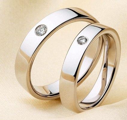 Cincin Kawin Wedding Ringsplatinaemas Putih Palladium