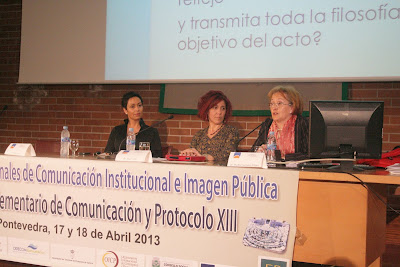 Olga Casal en las Jornadas Internacionales de Comunicación e Imagen Pública. Pontevedra 17-18 abril