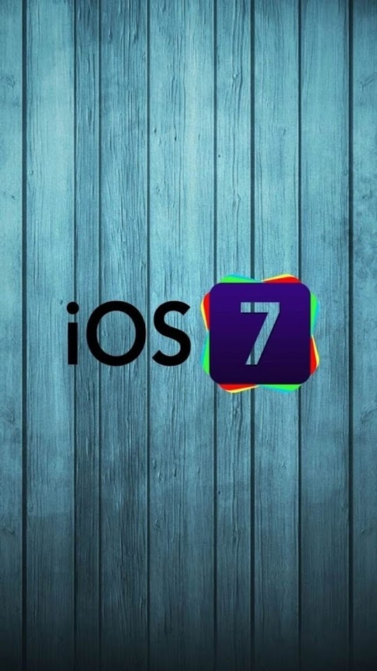 iOS 7 Logo with Wood Background   Galaxy Note HD Wallpaper
