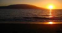 Sunset at Black Turtle Beach, Isabela Island, Galapagos