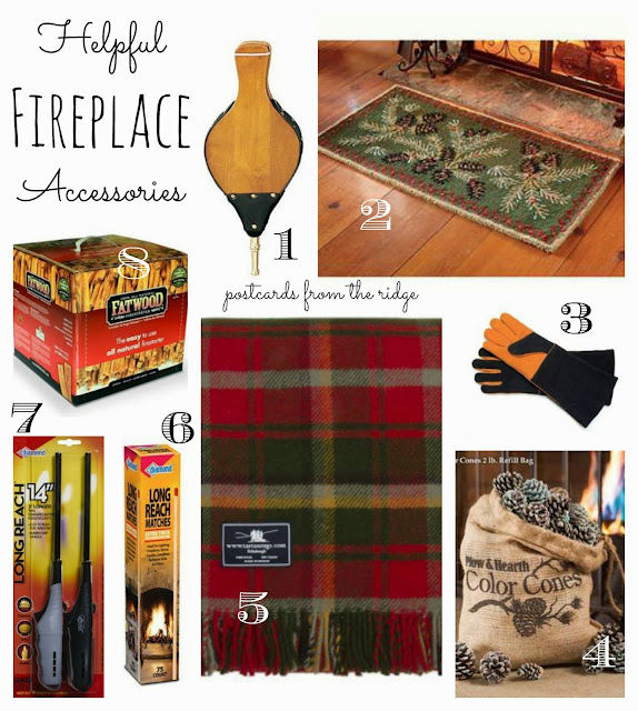 Great items to have for a fireplace (or fire pit!)