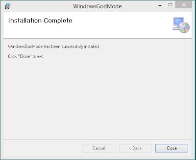 God Mode for Windows 3