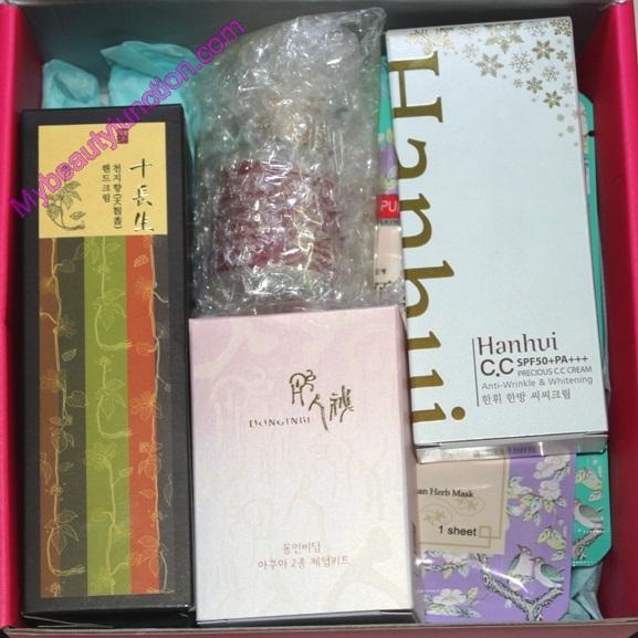 Memebox Oriental Medicine Beauty box review, unboxing, photos