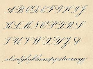 cursive calligraphy alphabetCursive Calligraphy Writing