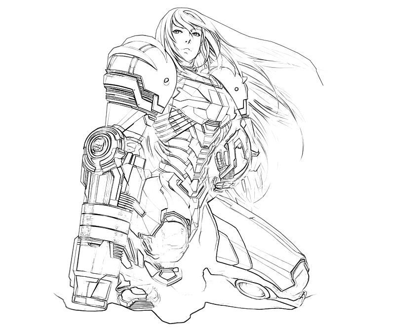 samus aran ssb4 how to draw