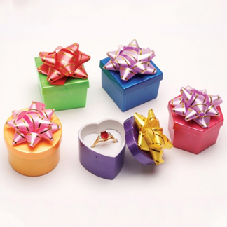 Assorted Bright Color Hat Jewelry Display Box