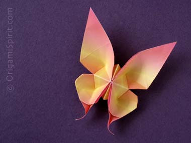 Origami Maniacs: Origami Swallowtail Butterfly by Evi ... - photo#24