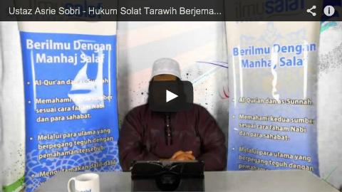 Ustaz Asrie Sobri – Hukum Solat Tarawih Berjemaah di Rumah
