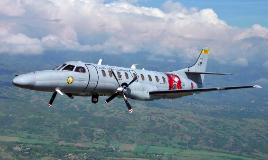 El SR-26 Merlín de la Fuerza Aérea Colombiana (FAC5741).
