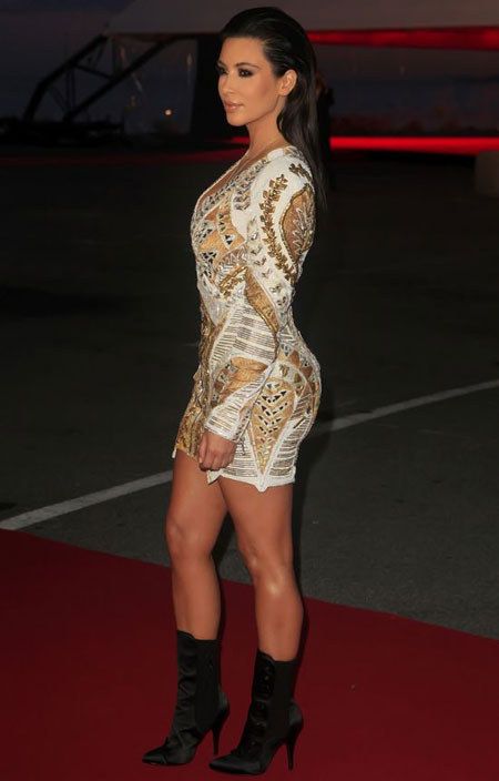 : kim kardashian with deep neck at premiere in cannes - cruel summer actress pics