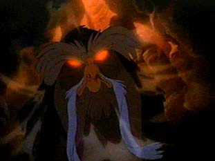 Glowing eyes in the rats' hideout Secret of NIMH 1982 animatedfilmreviews.blogspot.com