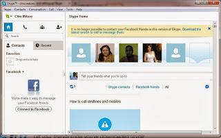 Sinkronisasi Akun Skype dan Facebook