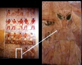 Egiptólogos famosos como Ministro depuesto Zahi Hawass, censurar todas las pinturas y objetos extraños encontrados en tumbas o perturbadores.