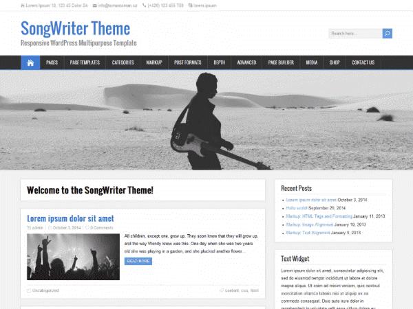 SongWriter WordPress Theme