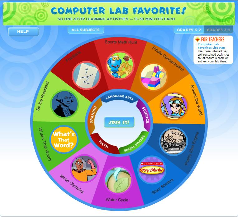 Technology Tidbits: Computer Lab Favorites from Scholastic