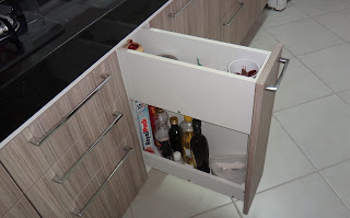 Porta condimentos inox para armario embutido