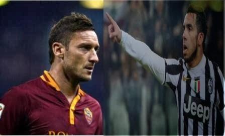 Adu Gensi laga juventus vs roma di liga serie A Italia