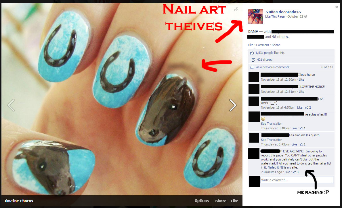 Country Girl Nail Designs My horse nails with the