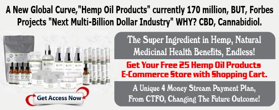 Free Hemp(NON THC) Oil E-Commerce Store 4 Money Streams