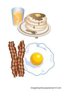 dibujos de huevos fritos con bacon