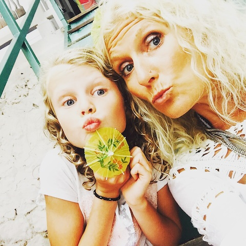 Clémentine & Mummy this Summer
