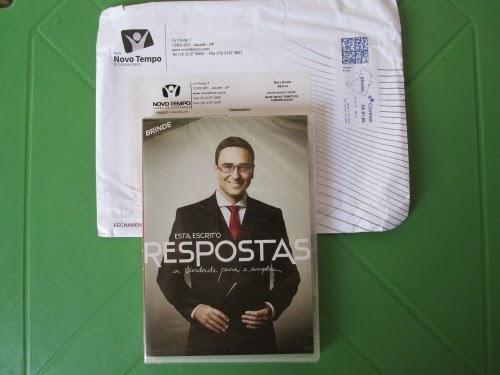 DVD Respostas- brinde recebido
