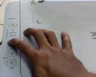 Tahan tombol resume pada printer MG2470 dan Mg2570