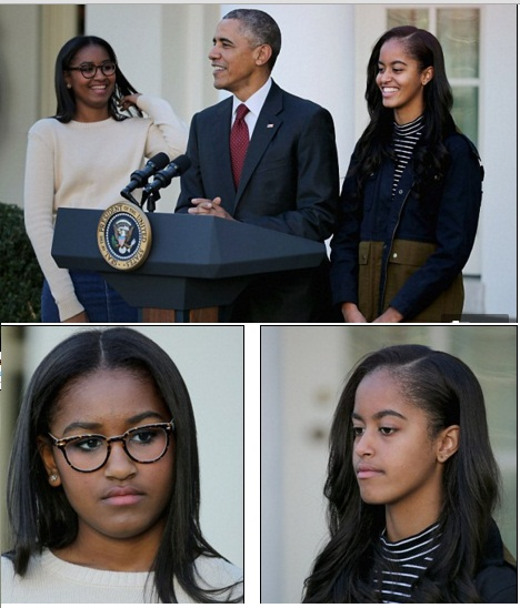 Sasha & Malia Obama's Pardon Outfits