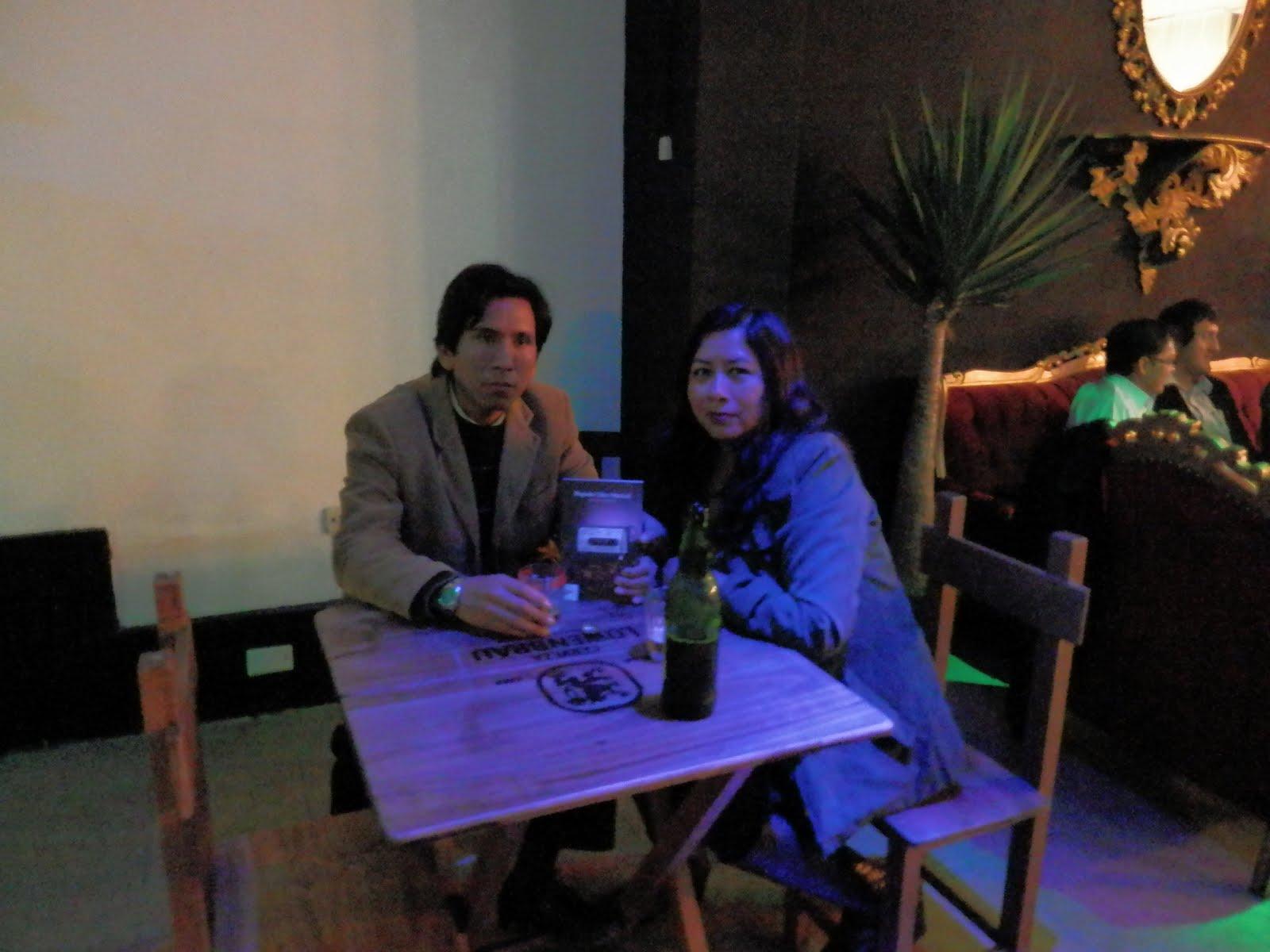 Con el poeta Eduardo Borjas