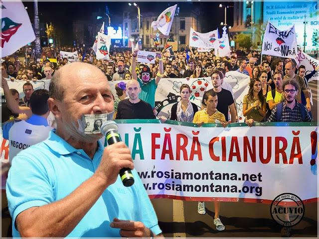 Proteste Roşia Montană – Traian Băsescu funny