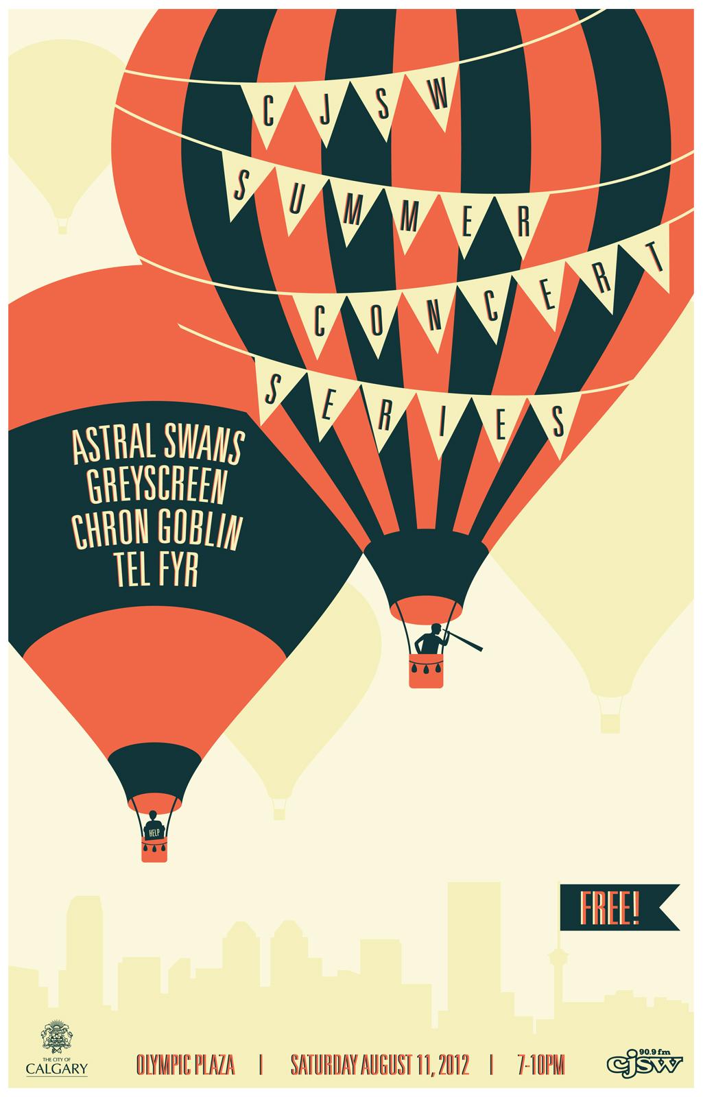 CJSW Summer Concert Series poster