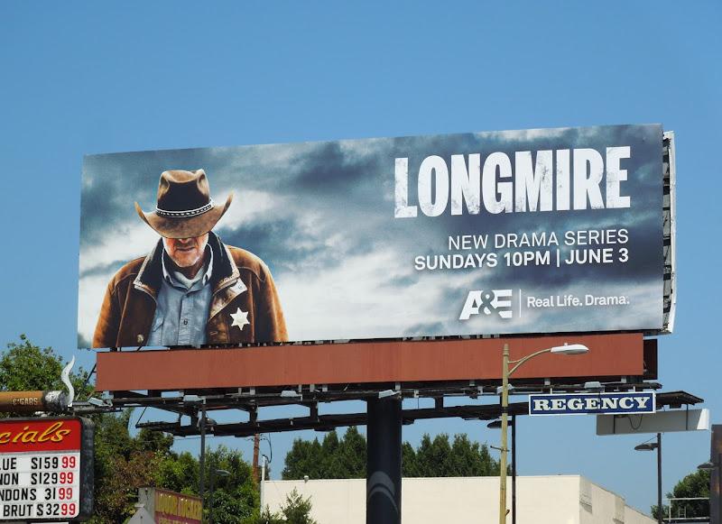 Longmire series premiere TV bilboard