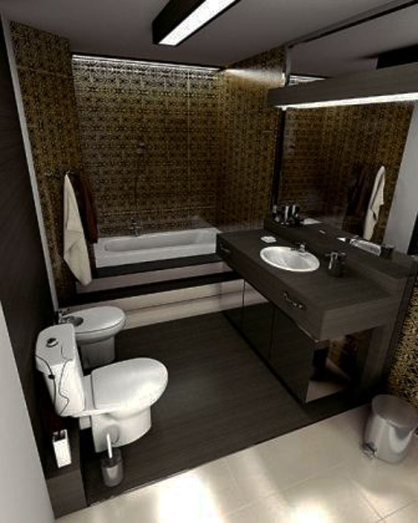 Ideas Baños Pequenos Diseno:Small Bathroom Decorating Ideas