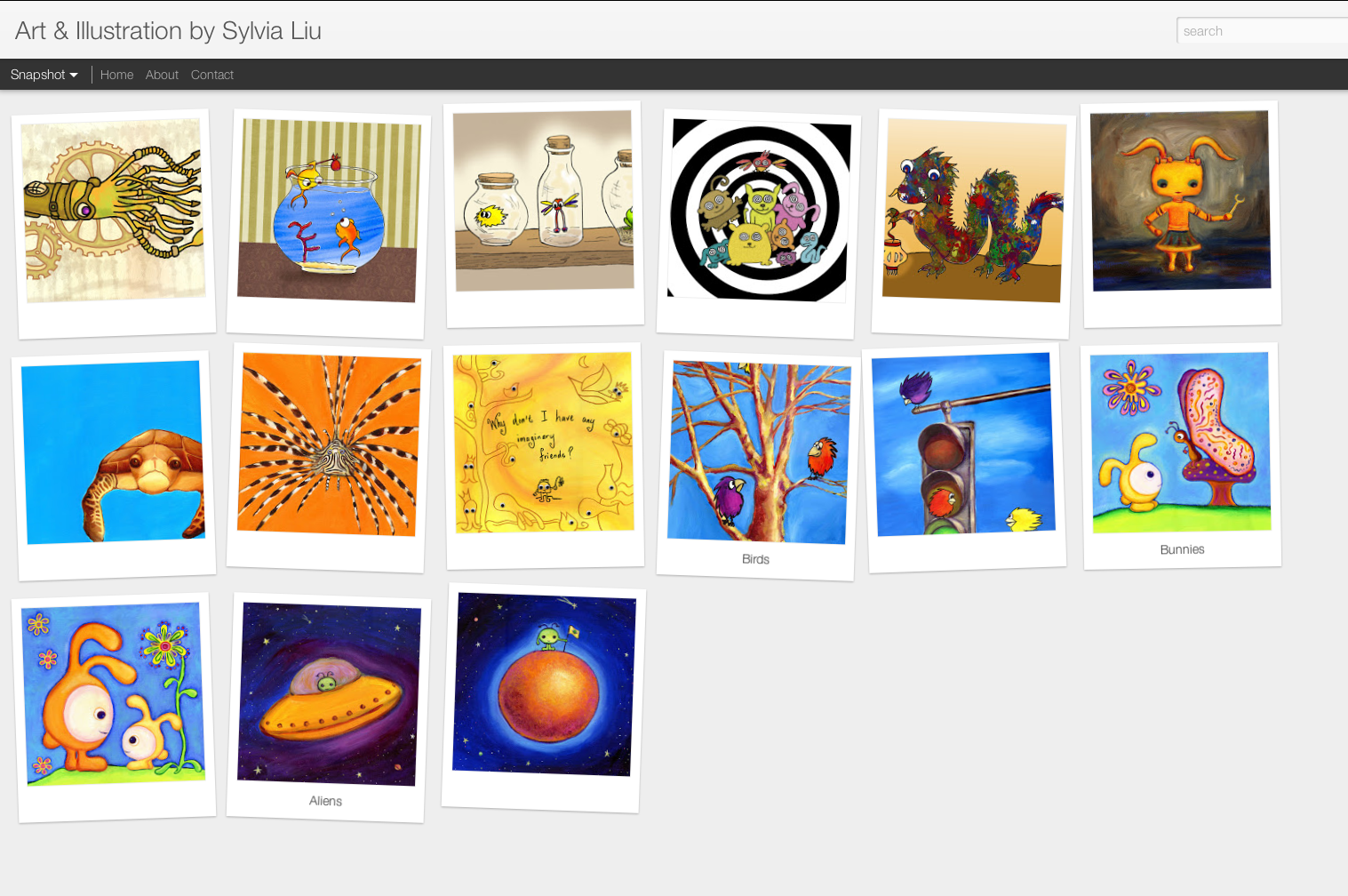 sylvia liu land how to make an art portfolio on blogger sylvia liu art illustration portfolio in blogger dynamic view