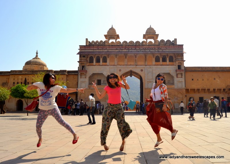 tourists at Amber Fort in Jaipur