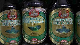 cerveza con hojas de coca - Bolivia