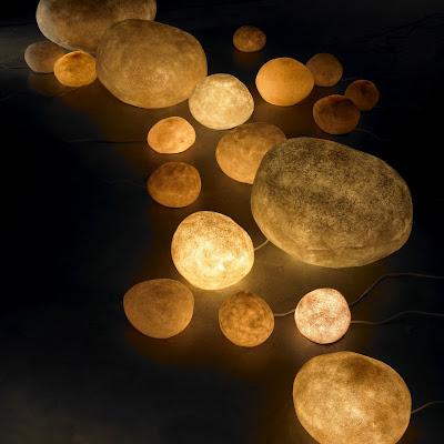 Lighting+rock+stones