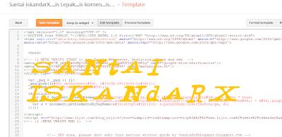 santai, Santai iskandarX, new, HTML Editor, Blogger.com