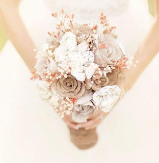 清淡的結婚花球一種,喜歡低格調平和的新娘子選用